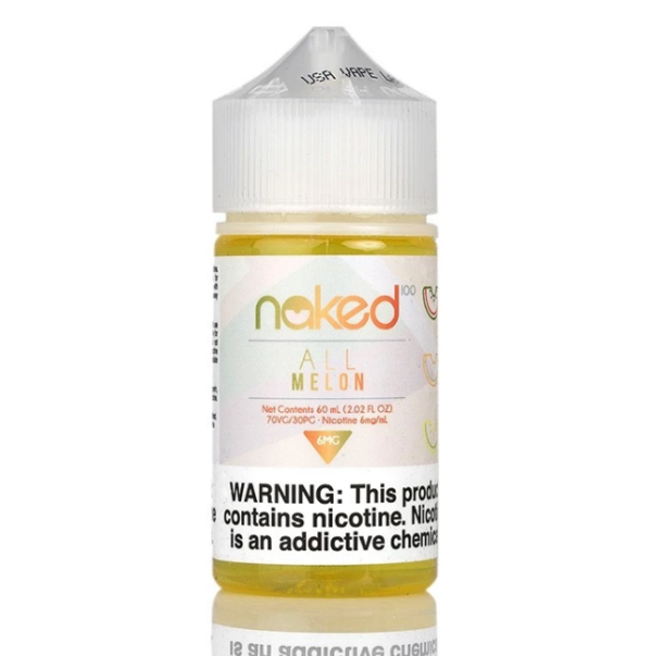 All Melon from Naked 100 combines the three most delicious melons known to man and creates a super-melon e-juice like no other. Mouthwatering watermelon with rich, sweet cantaloupe and the bright taste of fresh honeydew. Try a bottle today at Giant Vapes!