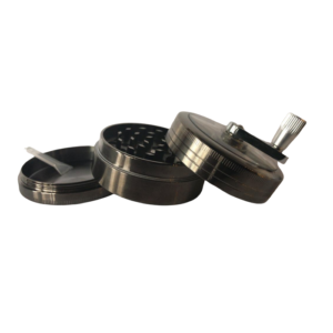 3 Parts Aluminium Herb Grinder With Handle_Separated